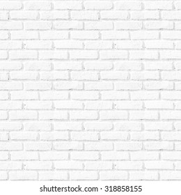 Bathroom pattern concept: Seamless vertical white brick wall texture background.