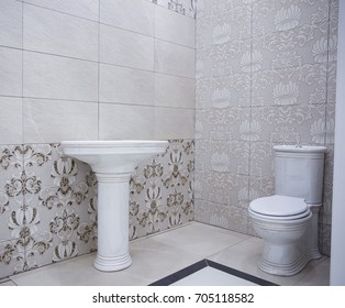 Bathroom real picture with a unit and toilet