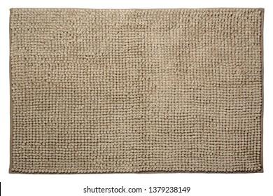 Bathroom rug isolated on white background