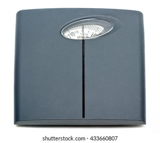Bathroom scale isolated on white background