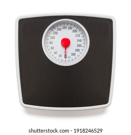 Bathroom Scale with Red Dial Cut Out.