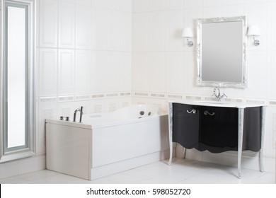 Bathroom sink mirror