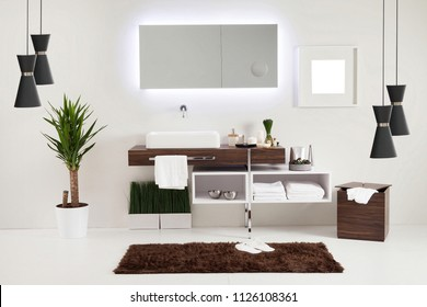 bathroom style and interior decorative design for home, hotel and office