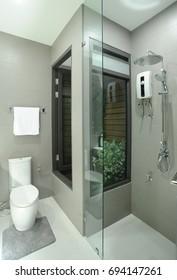 bathroom and towel