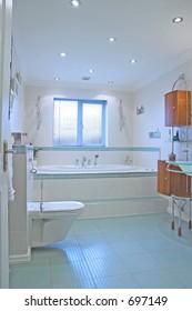 Bathroom in UK propert - wide view