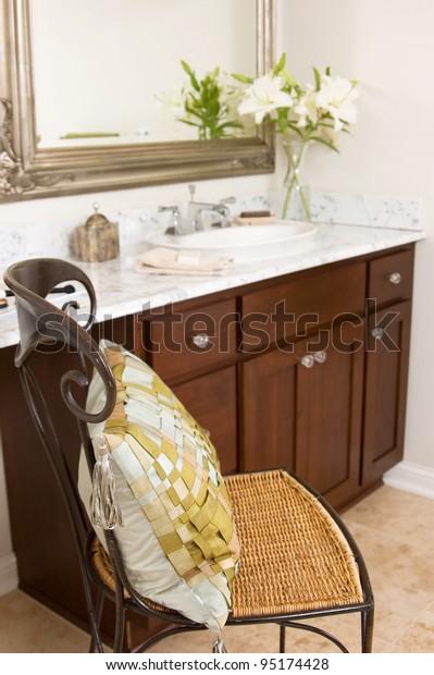 Bathroom Vanity Chair Stock Photo Edit Now 95174428