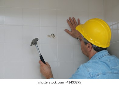 Bathroom Wall Demolition