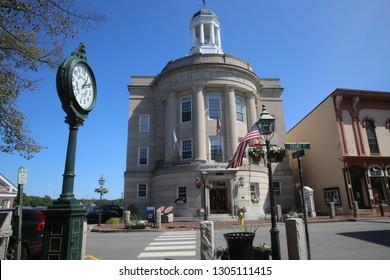 Bath's Davenport Memorial City Hall, Maine, USA, 2018