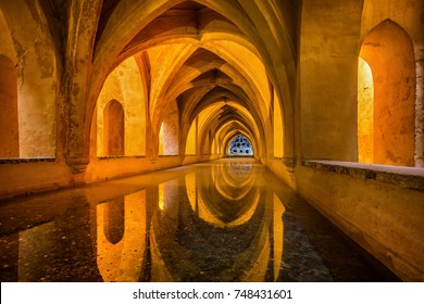 Baths of Dona Maria Padilla at the Royal Alcazar in Seville, Andalusia, Spain.