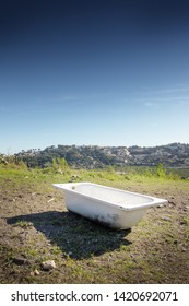 bathtub on the top of a mountain in almunecar spain