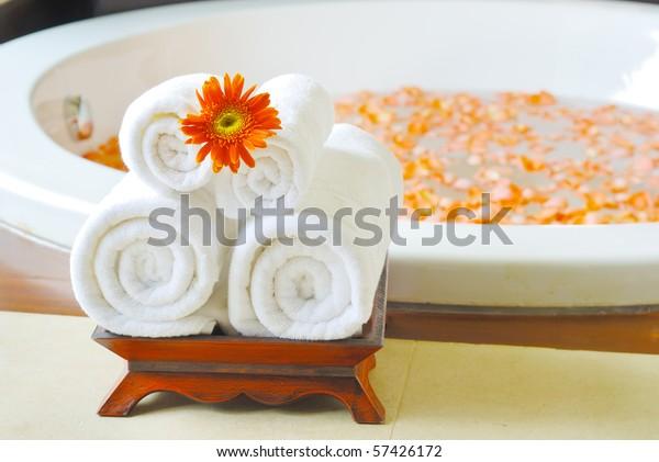 Bathtub in Spa room thailand