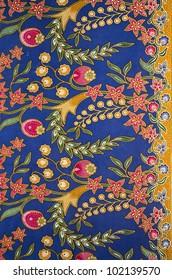 Batik design in Malaysian traditional concept.