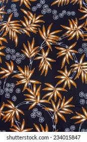 Batik design in Thailand for traditional clothes. Colorful black tone background and leaf style. For creator design illustrator.