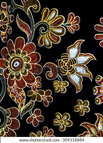 Batik Flora Pattern Design Stock Photo Edit Now 309318884