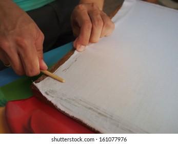 Batik paint instrument