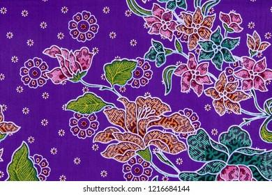 Batik sarong pattern background, traditional batik sarong in Asian