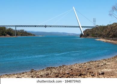 Batman Bridge and River Tamar Sidmouth, Tasmania, Australia