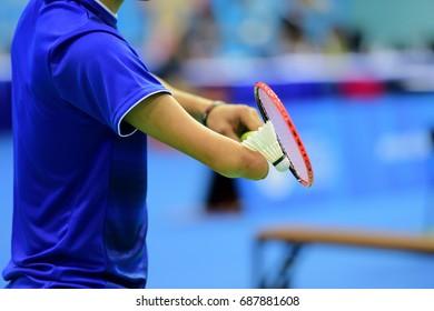 Batminton Handicapped sport during serves