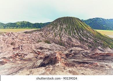 Batok volcano at day time. Java. Indonesia