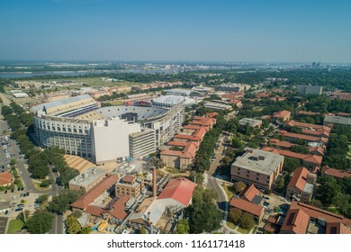BATON ROUGE, LOUISIANA, USA - AUGUST 1, 2018: Aerial image of LSU