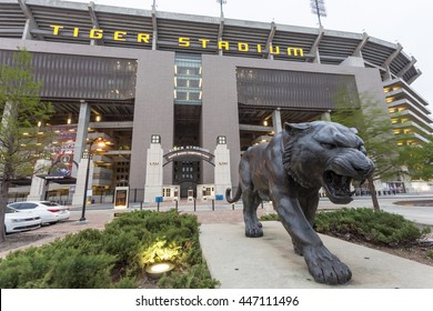 BATON ROUGE, USA - APR 15, 2016: The Tiger Stadium of Louisiana State University in Baton Rouge. Louisiana, United States