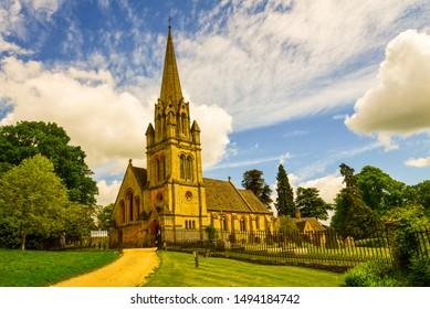 Batsford Church Cotswolds landscape & Sky