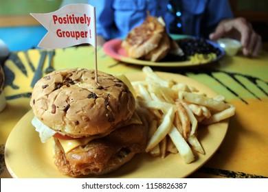 Grouper Sandwich Images Stock Photos Vectors Shutterstock