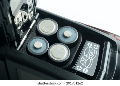 batteries in flashlight