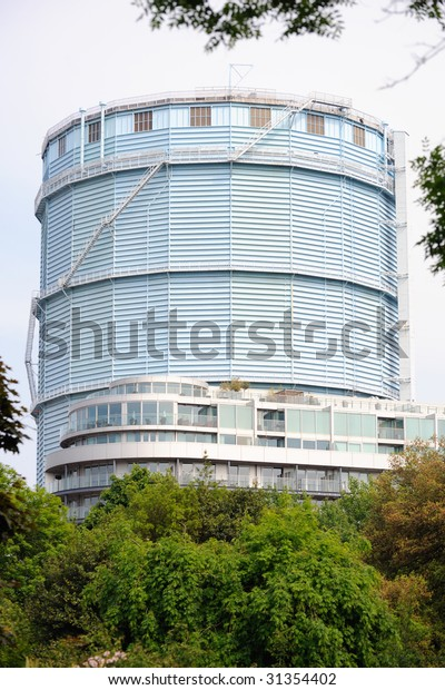 Battersea Dry Gasholder Number 7 London Stock Photo (Edit