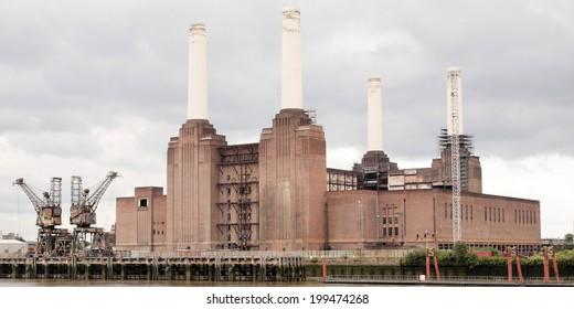 Battersea Power Station in London England UK