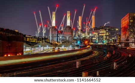 battersea power station night