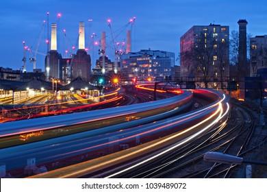 battersea power station rail train