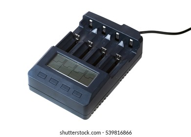 Battery charger isolated on white background