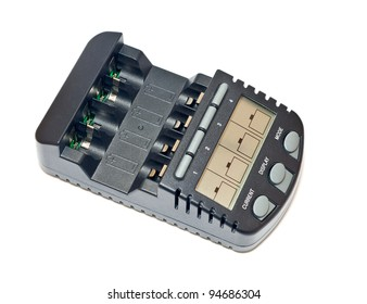Battery charger isolated on a white background