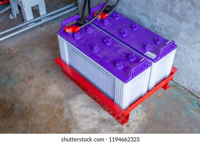 Battery of diesel engine fire pump, Industrial fire extinguishing system.