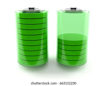 Battery isolated on white background. 3d illustration