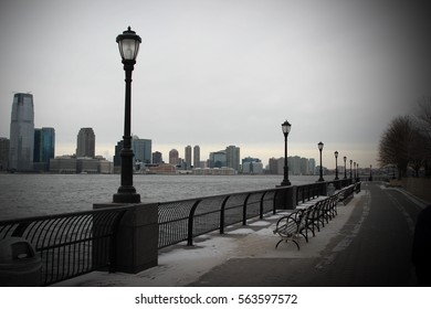 Battery Park Public in Winter, New York