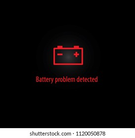 Battery problem detected background