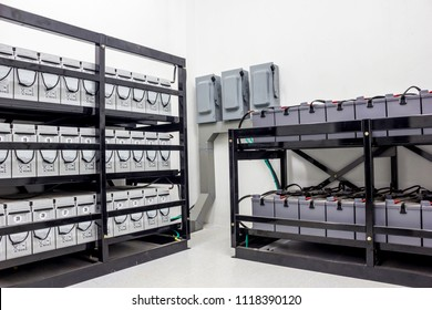 Battery Room for back up essential load in power plant or industry.