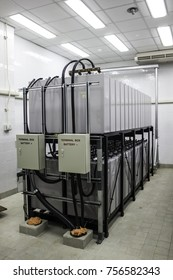 Battery Room of Power Plant