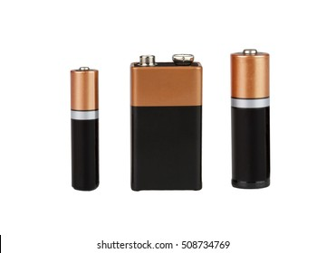 The battery is unmarked on white background, isolated