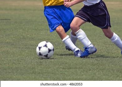 Battle for the soccer ball