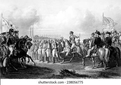 The Battle of Yorktown, the surrender of British General Charles Cornwallis, October 19, 178 1