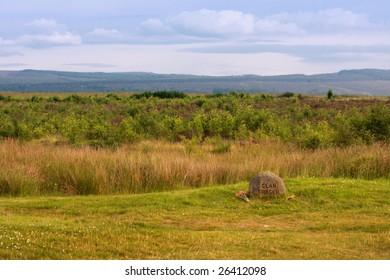 The battlefield of culloden, scottish highlands,scotland,UK