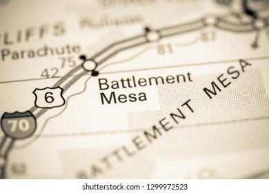 Battlement Mesa. Colorado. USA on a map