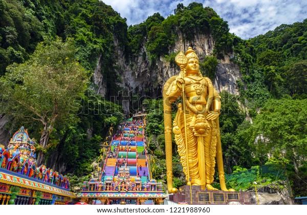 Grotte de Batu en Malaisie, temple hindouiste