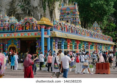 Batu Caves, Kuala Lumpur, Malaysia - 24th Jan, 2019 - the most frequented tourist attractions, is a limestone hill that has a series of caves and cave temples in Selangor, Malaysia.