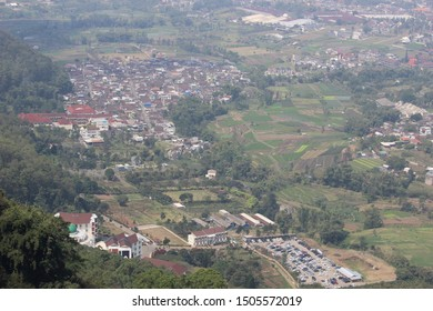 Batu City from Above, East Java, Indonesia