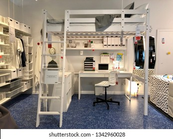 BATU KAWAN,PENANG, MALAYSIA,MARCH 18, 2019. FIRST STORE IN THE NORTHERN REGION. SAMPLE OF THE INTERIOR IN IKEA STORE. WAS FOUNDED IN OF SWEDEN IN 1943, IKEA TO HAVE LARGE CHAIN STORES AROUND THE WORLD