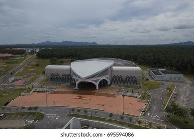 BATU PAHAT,MALAYSIA-AUGUST 13 2017:The main hall of UTHM.  This is the building that host convocation ceremony for the graduates